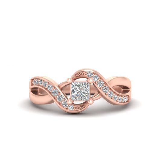 PRINCESS DIAMOND WEDDING RING