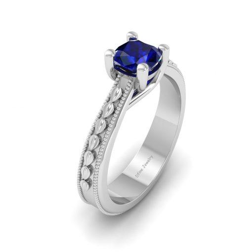 TRELLIS SET SAPPHIRE WEDDING RING