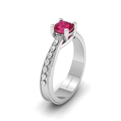 SOLITAIRE RUBY WEDDING RING