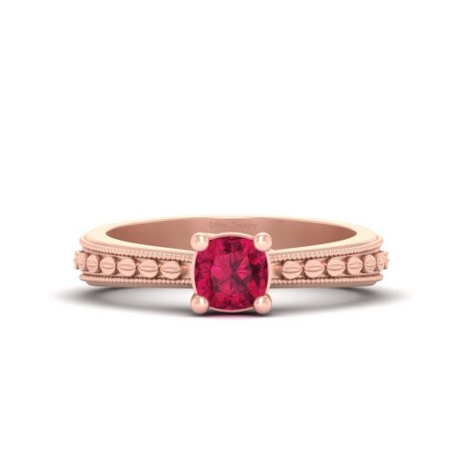 SOLITAIRE RUBY ENGAGEMENT RING