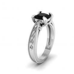 Heart Prong Solitaire Ring