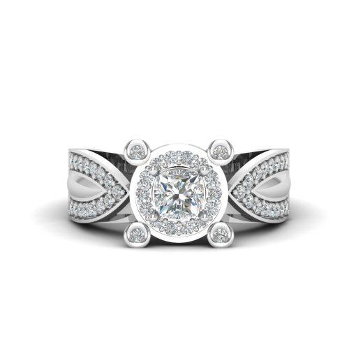 DIAMOND HALO WEDDING RING