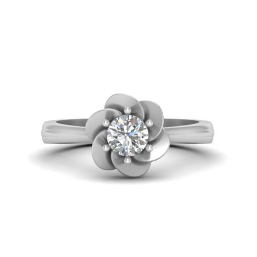 FLORAL SOLITAIRE DIAMOND RING