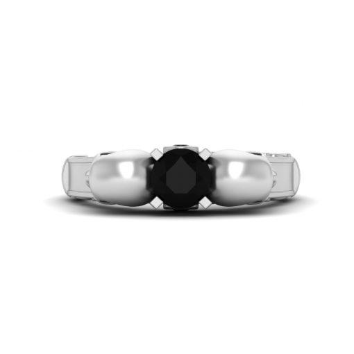BLACK DIAMOND SKULL WEDDING RING