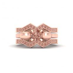 CHAMPAGNE DIAMOND SKULL RING SET