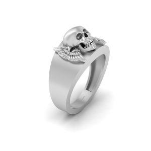 Skull and Wings Wedding Band