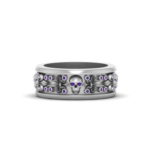 GOTHIC ENGAGEMENT BAND MENS