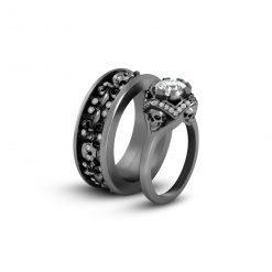 DIAMOND MATCHING SKULL COUPLE RINGS