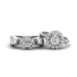Diamond Skull Ring For Couple