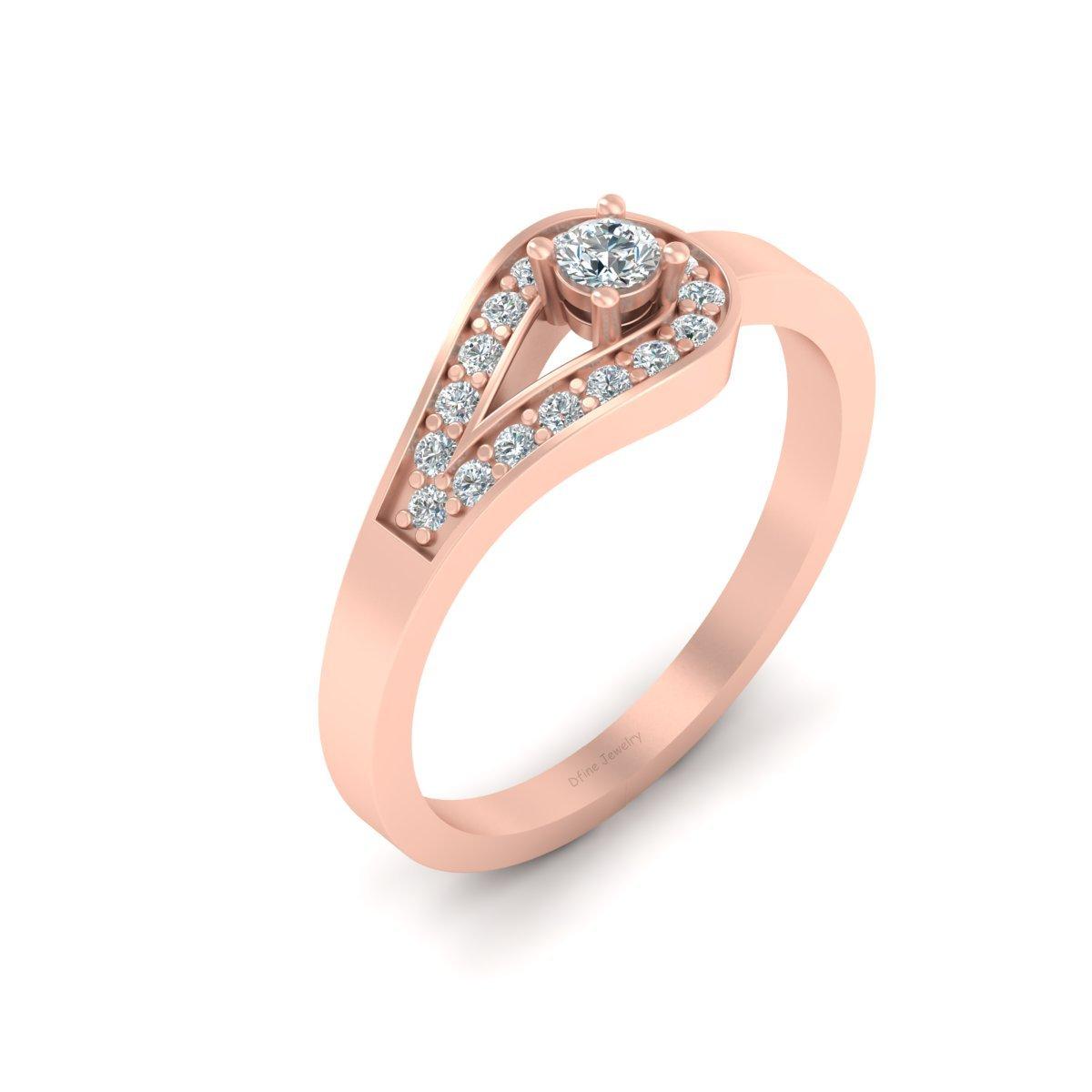 unique diamond promise ring | dfine jewelry store