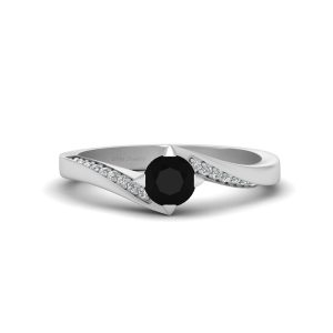 Black Diamond Wedding Ring Womens