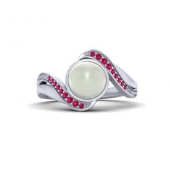 PEARL PROMISE RING FOR HER