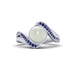 CULTURED PEARL RING SILVER