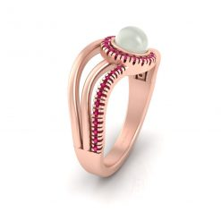 CULTURED PEARL ENGAGEMENT RING