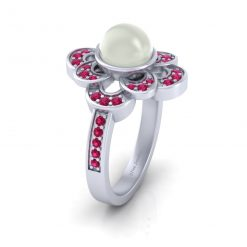 CULTURED PEARK RING SILVER