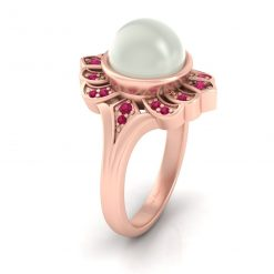 OFF WHITE PEARL ENGAGEMENT RING