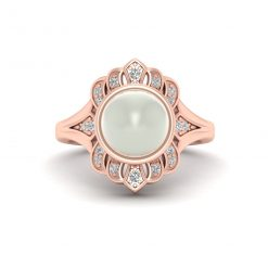 CULTURED PEARL RING WOMENS