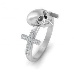 DIAMOND SKULL RING WOMENS