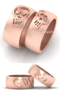 Matching Skull Wedding Ring
