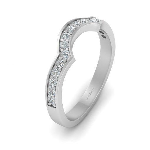 SEMI ROUND DIAMOND WEDDING BAND
