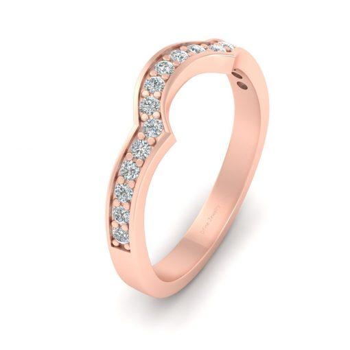 SEMI ROUND DIAMOND ENGAGEMENT BAND