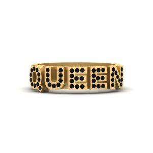 Black Diamond Royal Queen Ring Band