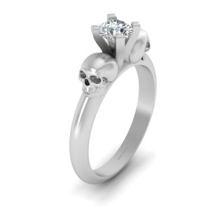 1.0CT DIAMOND SKULL ENGAGEMENT RING