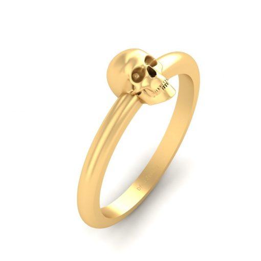 DAINTY SKULL WEDDING RING