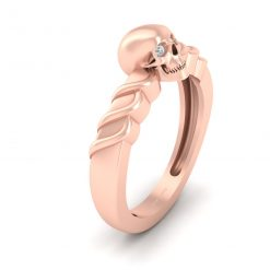 ROSE GOLD SKULL ENGAGEMENT RING