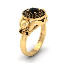 HALO SKULL WEDDING RING