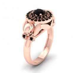 ONYX BLACK SKULL ENGAGEMENT RING