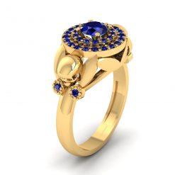 SPOOKY SKULL WEDDING RING