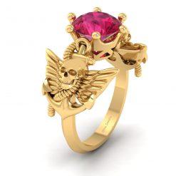 GOTHIC SKULL WEDDING RING