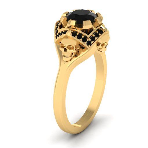ONYX BLACK SKULL RING