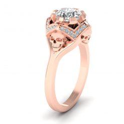 DIAMOND SKULL RING FOR HER