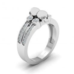 DIAMOND SKULL RING BAND