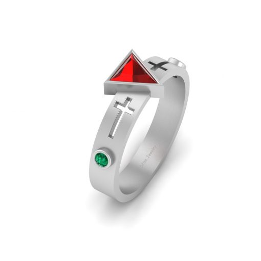 HOLY CROSS ENGAGEMENT RING