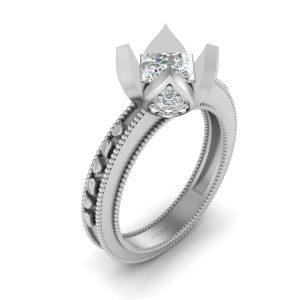Princess Cut Diamond Engagement Ring Womens