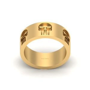 Memento Mori Inspired Skull Gothic Ring Mens