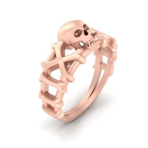 Skeleton Skull Bones Ring Gothic Wedding Ring