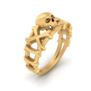 Deathly Gothic Skull Engagement Ring