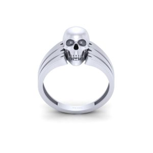 Geeky Spooky Skull Engagement Ring Unisex