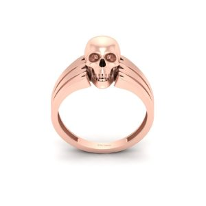 Pirates Skull Bones Rose Gold Engagement Ring