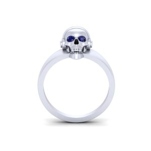 Skull Wearing Headphones Punk Style Biker Ring