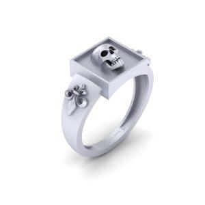 Onyx Black Simulated Diamond Gothic Wedding Ring