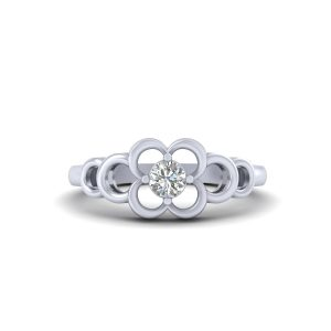 Classic Simulated Diamond Engagement Ring