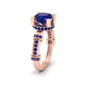 Classic Rose Gold Engagement Ring Womens
