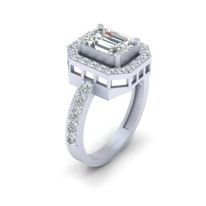 Classic Emerald Cut Diamond Engagement Ring