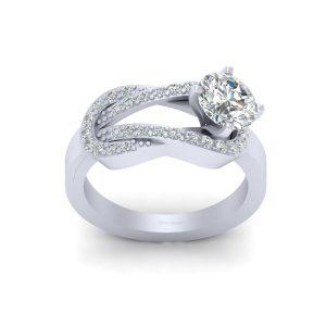 Classic Simulated Diamond Wedding Ring Womens