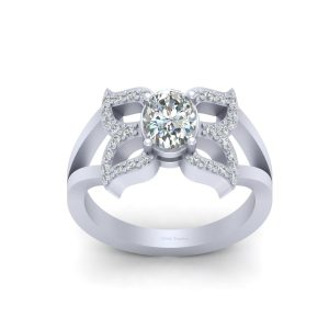 Beautiful Butterfly Diamond Engagement Ring